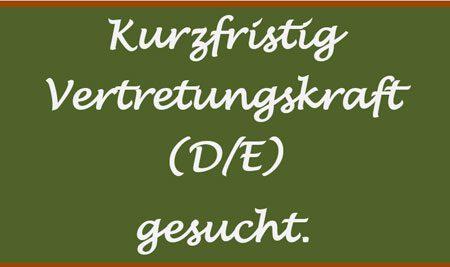 Offene Stelle: Deutsch / Englisch Lehrer